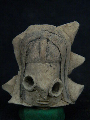Ancient Indus Valley Teracotta Mother Goddess Head  C.2000 BC  #T842#