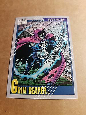 Marvel Universe 1991 Series 2 Card #63 Grim Reaper