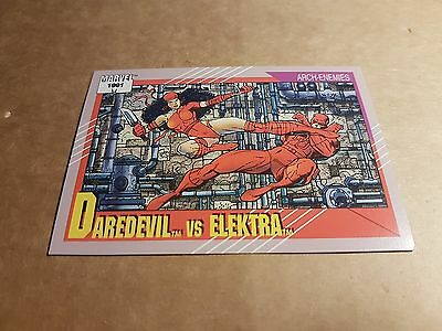 Marvel Universe 1991 Series 2 Card #95 Daredevil/elektra