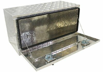 "Aluminum 36"" Truck Pickup Underbed Underbody Tool Box Trailer Bed Rail Storage"