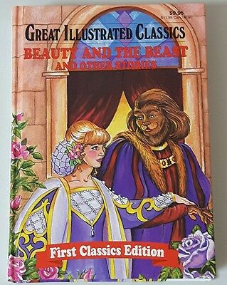 Vintage Beauty and the Beast Hard Cover Book First Classics Edition