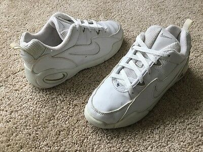 Nike Kid's Athletic Shoes Girl's Size 4Y White Leather