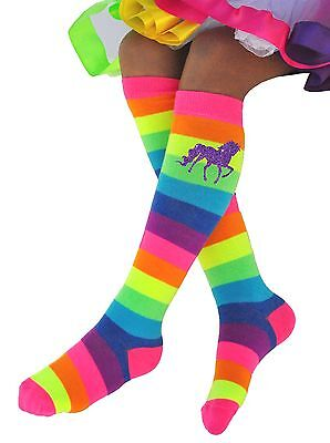 Rainbow Unicorn Knee High Long Boot Socks Pony Horse Leg Warmer Kid Shoe SZ 1-12