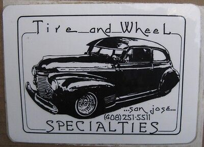 Vintage Decal Tire And Wheel Specialties Lowrider Hispanic Chicano Unused Fn-