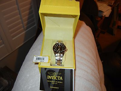 "Invicta ""pro Diver Collection""  Two Tone Ss & Gold Plate Watch  New In Box"