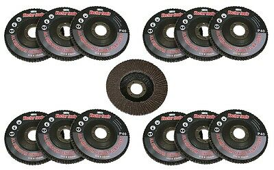 "10pc 40 Grit Flap Sanding Grinding Disc 4 1/2"" x 7/8"" Aluminum Oxide A/O NEW"