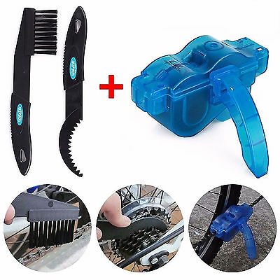 New Cycling Bike Bicycle Chain Wheel Wash Cleaner Brushes Scrubber Set Tool Kit