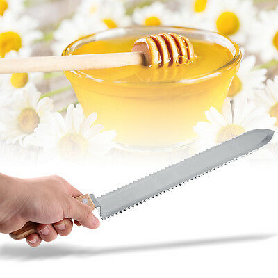 280mm Serrated Blade Honey Extractor Uncapping Knife Beekeeping Equipment stw