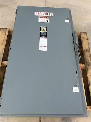 Square D 400 amp Fused Disconnect H365N single throw fusible safety switch