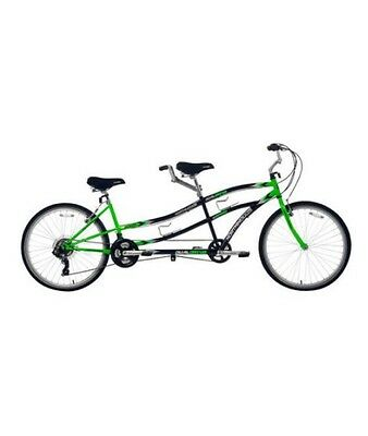 "26"" Northwoods Tandem Bike 21-Speed Dual Drive Power Bicycle Green"