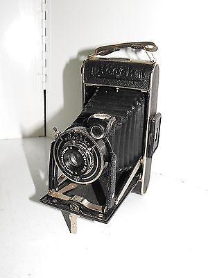 Vintage 30s Folding Kodak Junior 620 Film Camera Great Used Condition Working.