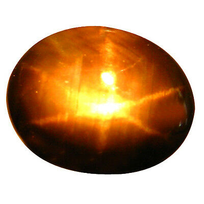 7.16 Ct 100% Unique Rarest Natural Good Luster Golden Black Star Oval Gemstones