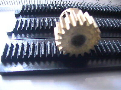 """Gear Rack Nearly 15"""" For Pinnion Gear  Suit  Most Meccano Gears, Cnc. Uk Seller"""