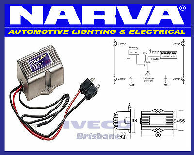 Narva Ultraflash Heavy Duty Solid State Electronic Flasher Audible Signal 68282