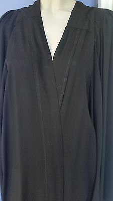 vintage graduation gown black