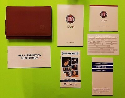 2015 Fiat 500e Owners Manual Set - COMPLETE - FREE SHIPPING