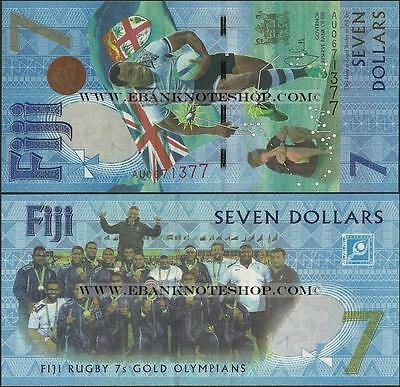 Banknote - Fiji,PNew,B531,2017,7Dollars, Uncirculated,Rugby 7's Olympics