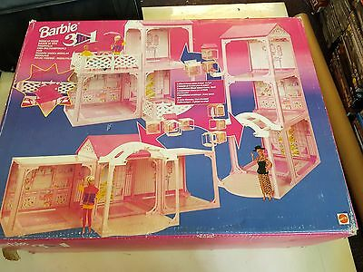 Barbie 3 In 1 Modular House, Mattel 1994 Toy, Incomplete, Trusted Ebay Shop