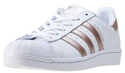 Adidas Superstar Women's Trainers BA8169 Rose Gold / White NEW & 100% Genuine UK
