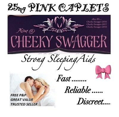 }50x Strong Sleeping pills Sleep Aid Tablets 25mg Pink Caplet BUY 3 GET 4th FREE