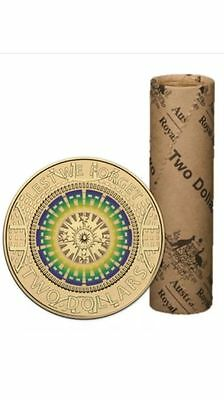 2017 $2 ANZAC LEST WE FORGET Multi-Colour ROLL of 25 Coins RAM