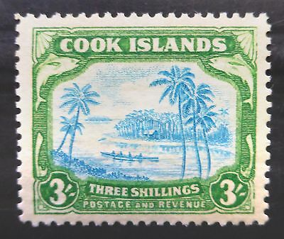 COOK ISLANDS 1945 - 3/- SG145 Mounted Mint NB1372