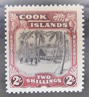 COOK ISLANDS 1945 - 2/- SG144 Mounted Mint NB1373