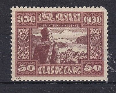 BD377) Iceland 1930 50a Brown & Brown. Nice fresh mint very light hinged example