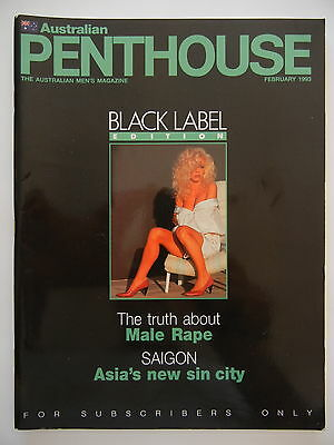 February 1993 Black Label Australian Penthouse Magazine -Subscriber Only Edition