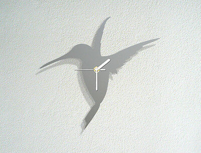 Humming Bird Custom Acrylic Wall Clock Flying Singing Modern Novelty Gift