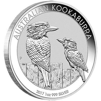 Roll of 20x 1oz Silver 2017 $1 Kookaburra Perth Mint 99.99% Pure Coin
