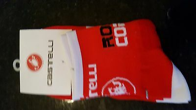 Red Castelli Rosso Cycling Socks Size 7-13