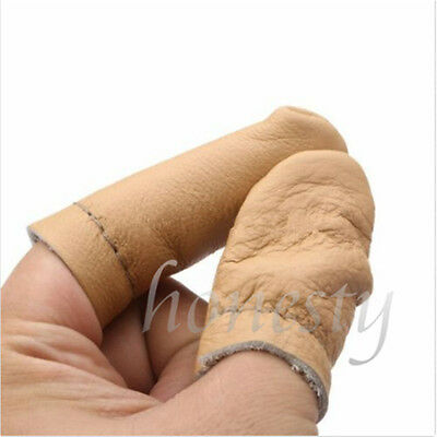 2Pcs  Leather Needle Felting Finger Guard Gloves for Hand Protector Craft Tool