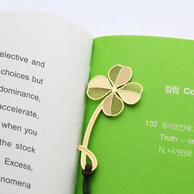 Creative Bookmark Four Leaf Clover Cute Student Gifts Office School Supplies
