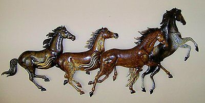 Horse Pony Metal Wall Art Rider Ranch Decoration