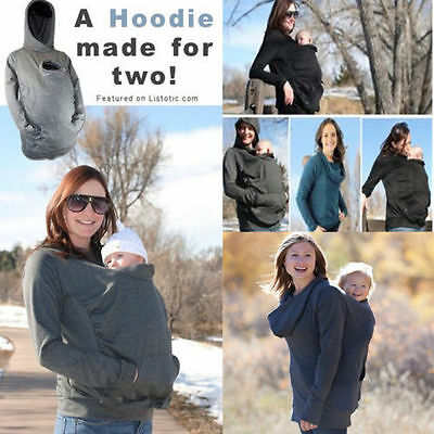 Babywearing Fleece Baby carrier hoodie Kangaroo coat jacket for BABY Women S-2XL