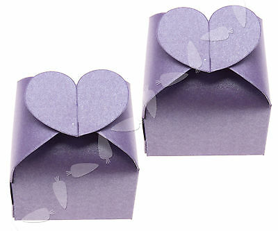 50x Favour Gift Heart Candy Boxes Wedding Party Bridal Showers Charming Purple