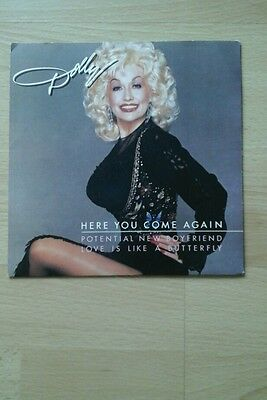 """Dolly Parton Here You Come Again -7"""" Single - Picture Sleeve - Great Condition"""