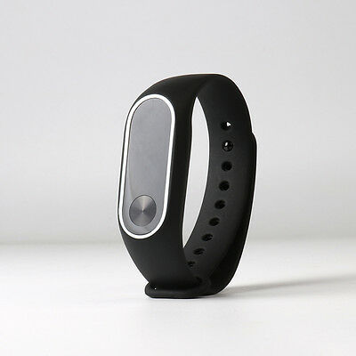 For Xiaomi Mi Band2 Replacement Wristband Wrist Silicone Strap Bracelet Black