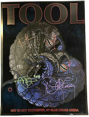 Tool BAND SIGNED Concert Poster Print Rochester NY 5/30/17 Autographed by All 4