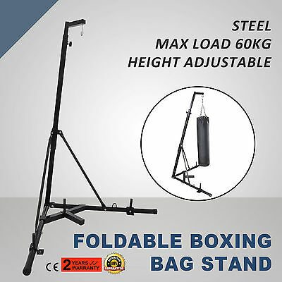 Foldable Boxing Bag Stand Height adjustable Punch Bracket Punching Kick PRO