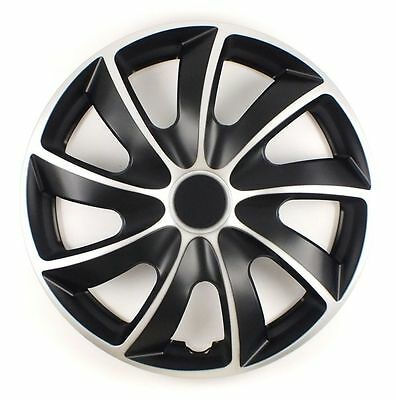 """Set Of 4 15"""" Universal Wheel Trims Cover,rims,hub,caps To Fit Peugeot +Gift #o"""