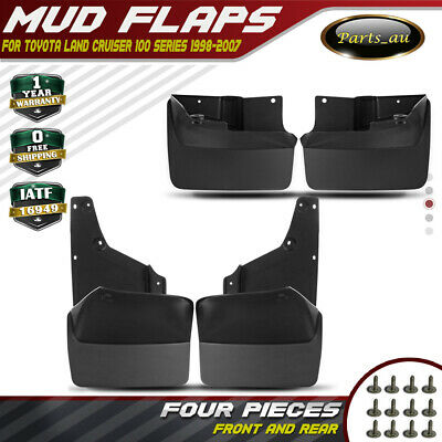 4x Splash Guard Mud Flaps for Toyota LandCruiser 100 Series 1998-2007 Front&Rear
