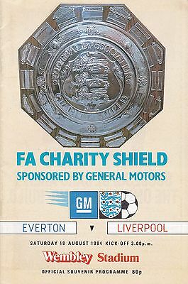 EVERTON v LIVERPOOL ~ CHARITY SHIELD 1984 ~ EXCELLENT CONDITION