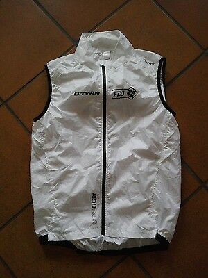 ultralight gilet vest wind smanicato cycling ciclismo team fdj original btwin
