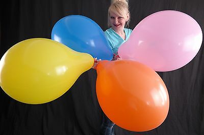 """50 x PARTYSTYLE 17"""" Luftballons *GEMISCHTE FARBEN* ASST COLORS * MADE BY TUF-TEX"""