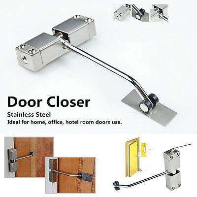 Surface Mounted Stainless Steel Door Gate Closer Adjustable Auto Spring Closing