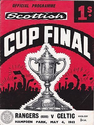 RANGERS v CELTIC ~ SCOTTISH CUP FINAL ~ 4 MAY 1963 ~ GOOD CONDITION