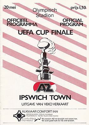 AZ'67 ALKMAAR v IPSWICH TOWN ~ UEFA CUP FINAL 1981~ EXCELLENT  CONDITION