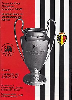 LIVERPOOL v JUVENTUS ~ EUROPEAN CUP FINAL 1985 AT HEYSEL ~ EXCELLENT CONDITION